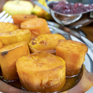 Roasted Sweet Potatoes With Sweet Orange Rum Glaze