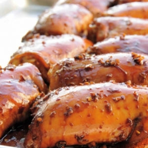 Cedar-Planked Chicken Thighs With Soy-Ginger Glaze