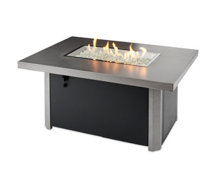 The Outdoor Greenroom Company Caden Rectangular Gas Fire Pit Table