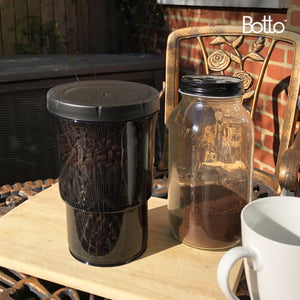 Botto™: The Adjustable Container 1.0 Pro (Blocks UV) | Push Down To Remove Air And Adjust Contents Between 16 oz & 32 oz | For Coffee