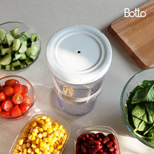 Load image into Gallery viewer, Botto™: The Adjustable Container 1.0 Original (Clear) Push Down To Remove Air And Adjust Contents Between 16 oz & 32 oz