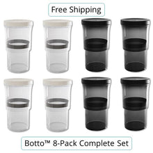 Load image into Gallery viewer, 8-pc Complete Set Botto®: The Adjustable Container (Clear+Blocks UV) Just Press & Store (33% Off)