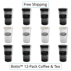 12-pc Coffee & Tea Set Botto™: The Adjustable Container Just Press & Store (27% Off)