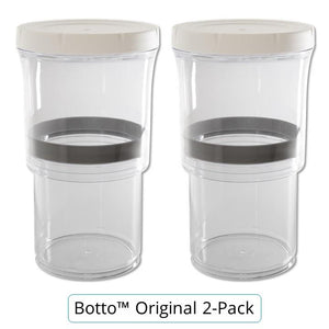 Botto®: The Adjustable Container 1.0 Original (Clear) Just Press & Store