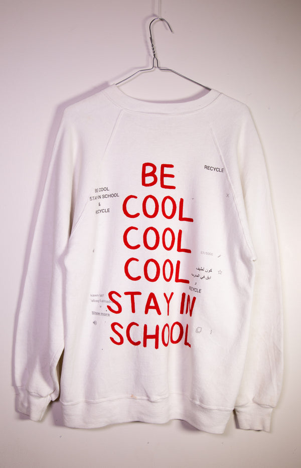 "RECLAIMED : ""COLLEGE"" L/S Crew Neck Vintage Sweat"