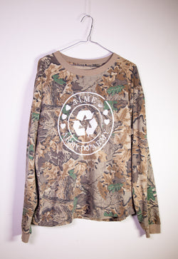 "RECLAIMED : ""Army Not Army"" Vintage L/S Tee"