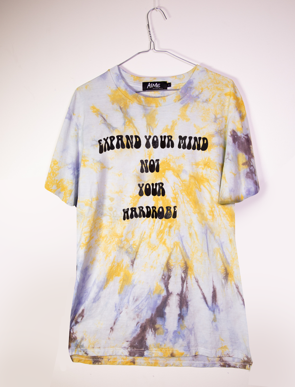 "RECLAIMED : ""Expand Your Mind"" S/S Vintage Tie-Dye Tee"