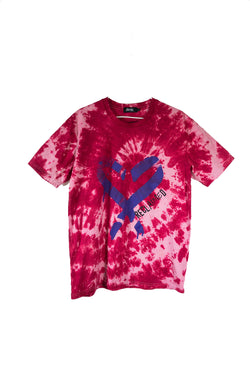 RECLAIMED Spray Heart Tee Red