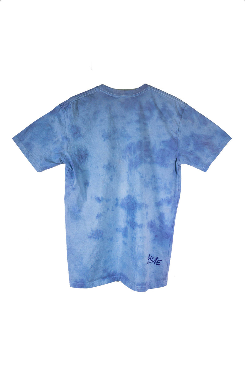 RECLAIMED Spray Heart Tee Blue Stonewash