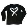 Spray Heart Black L/S Tee