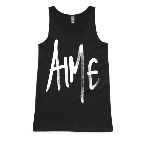 Women's Black Graffiti Tank