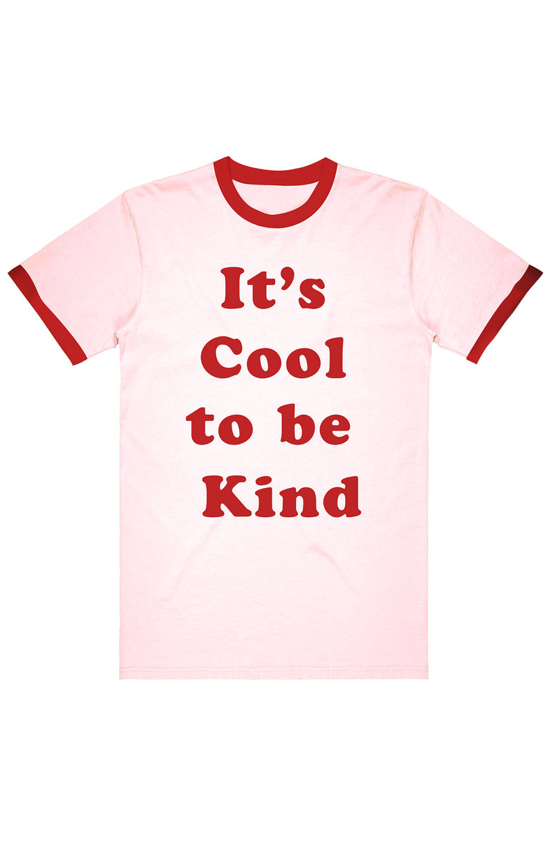 It's Cool to be Kind Ringer Tee