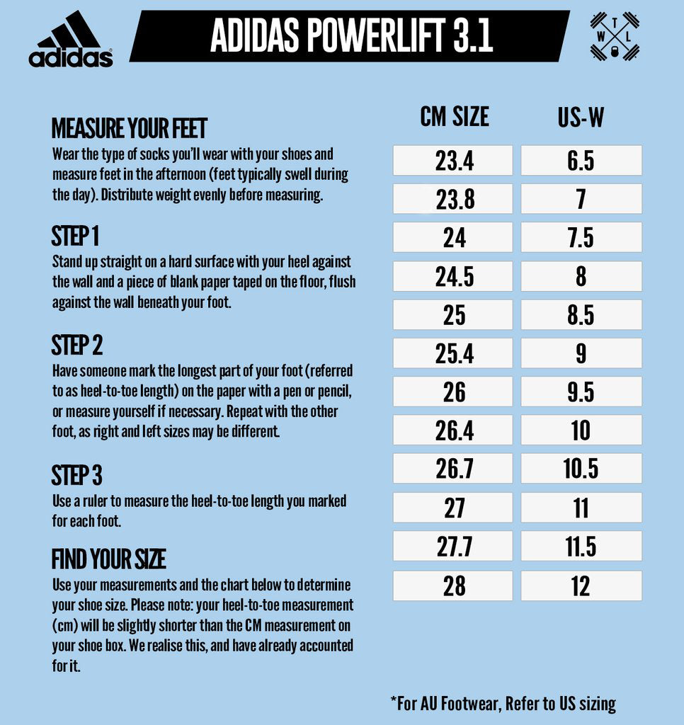 Adidas Size Chart Shoes