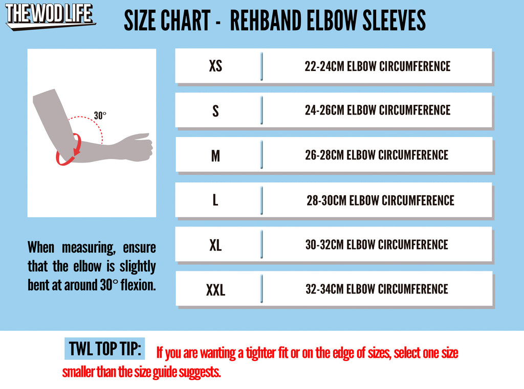 52f8d64d55 Weightlifting Elbow Sleeves (Rehband, SBD, RockTape) - The WOD Life
