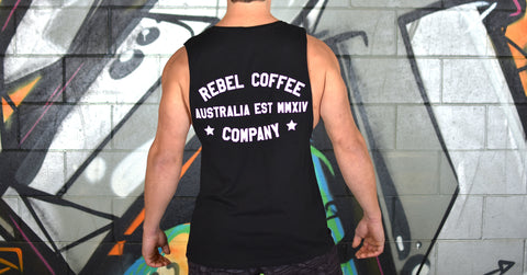 Rebel Coffee Co. Unisex Lifestyle Muscle Tank - Black