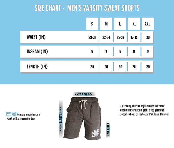 TWL Men's Varsity Sweat Shorts