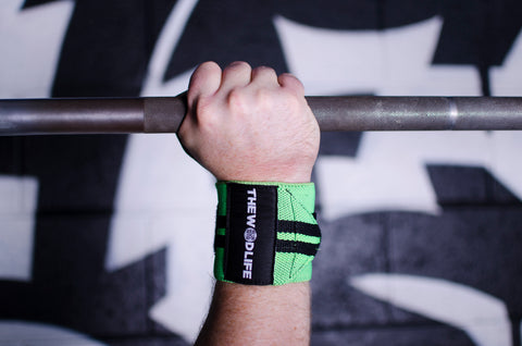 WOD Wrist Wrap 2.0 - Neon Green/Black