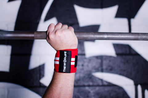 WOD Wrist Wrap 2.0 - Red/White