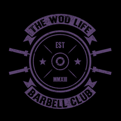 The WOD Life - Barbell Club 2.0 - Back - Purple