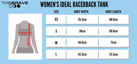 The Brave Ideal Racerback Size Guide