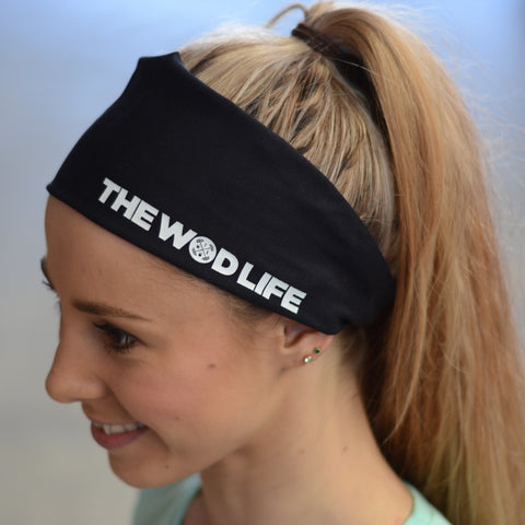 The WOD Life Black Banner Headband