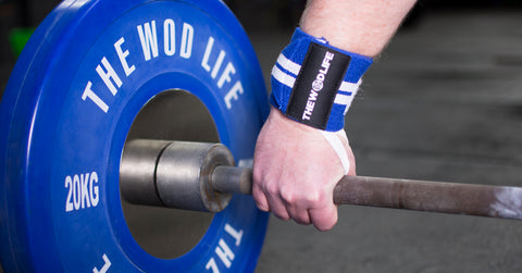 WOD Wrist Wrap 2.0 - Blue/White