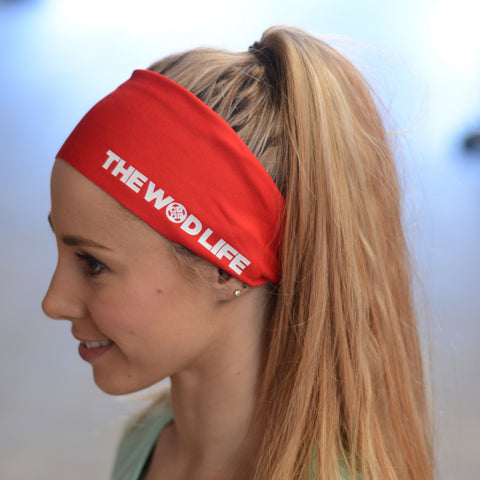 The WOD Life Red Banner Headband
