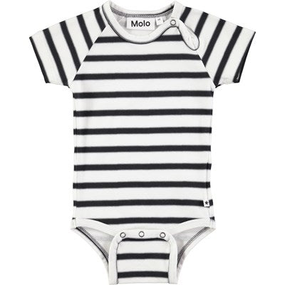 Body manga corta Feodor  bebe Spray Stripe  molo