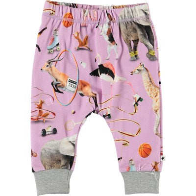 Pantalon largo bebe estampado animales Simone Made for Motion  molo