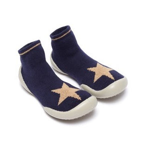 Calcetin/ zapatilla azul estrella lurex slipper, Collegien