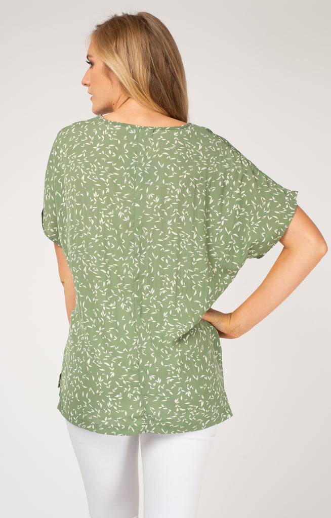 Green Leaves Oversized Tee