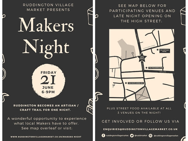 Craft Fair - Ruddington Makers Night 21st June 2019