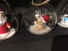 Load image into Gallery viewer, Teddy bear bauble (baby's first Christmas)
