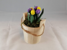 Load image into Gallery viewer, Wishing well bucket with tulips