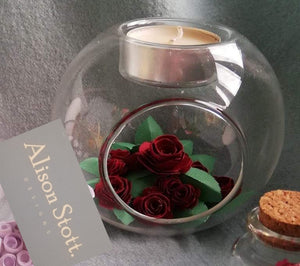 Roses tealight holder