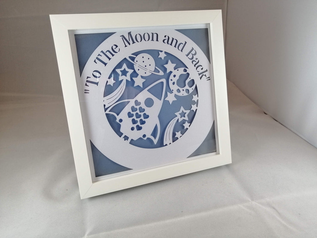 love you to the moon and back light up frame