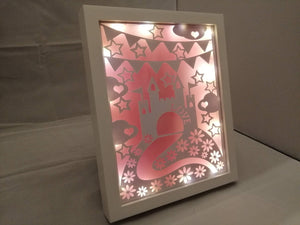 "Princess ""love"" light up frame"