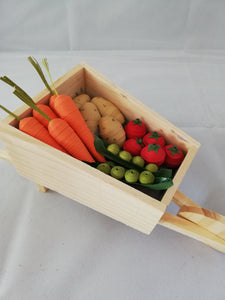 Vegetables in a wheelbarrow