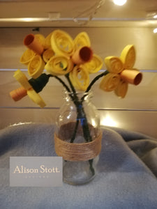 Daffodils in the milk bottle