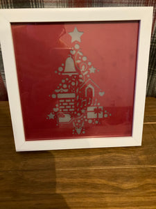 Light up Christmas frame