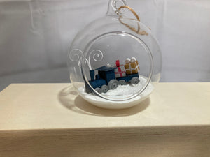 Christmas train bauble