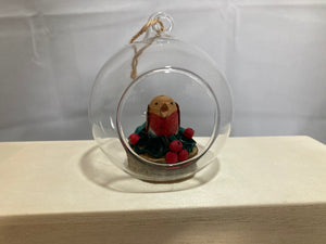 Christmas Robin bauble