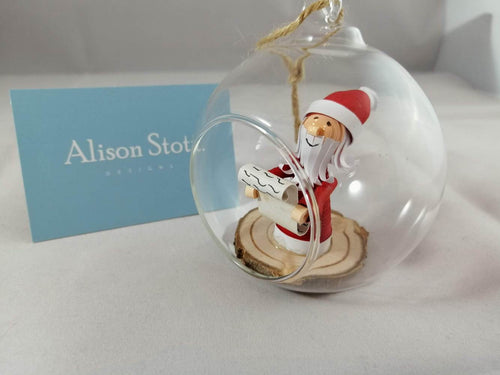 Santa and Mrs Claus 2 bauble set