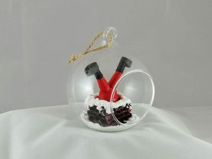 Santa and Rudolph 2 bauble set