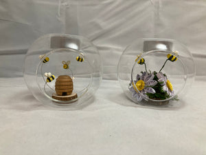 Set of 2 tea light holders