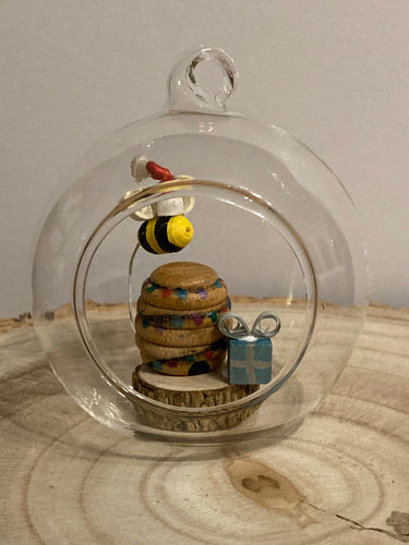 Santa Bee bauble