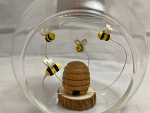 Bee hive tea light holder