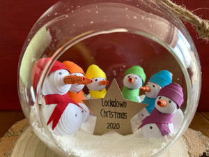 Lockdown Christmas 2020 bauble