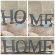 "Load image into Gallery viewer, Wooden ""home"" letters"