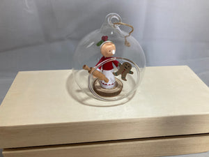 Mrs Claus baking bauble
